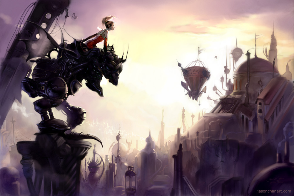 Beautiful FFVI-inspired art.